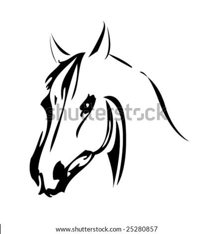 horse vector - stock vector