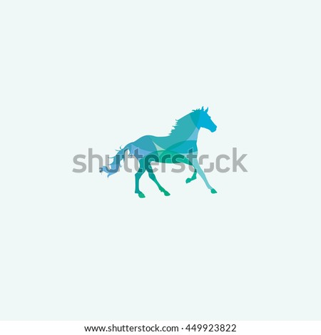Horse vector, colorful horse, fast, run, race logo
