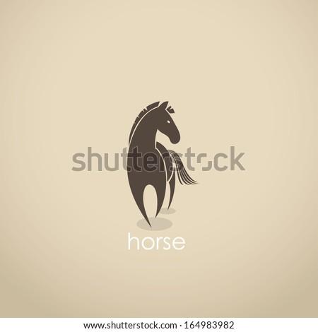 Horse - vector illustration - stock vector
