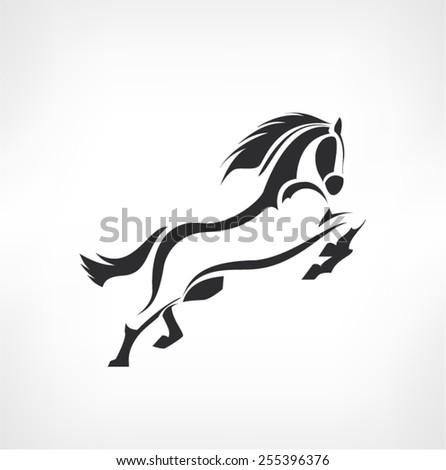horses icon - vector design - stock vector