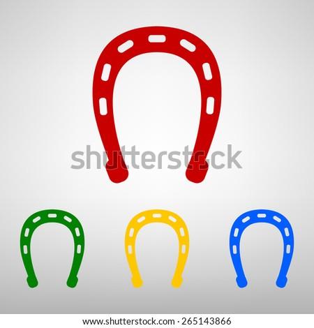 Horseshoe icon. Vector illustration - stock vector