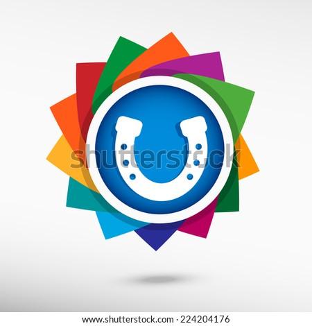 Horseshoe icon, vector illustration. Flat design style  - stock vector