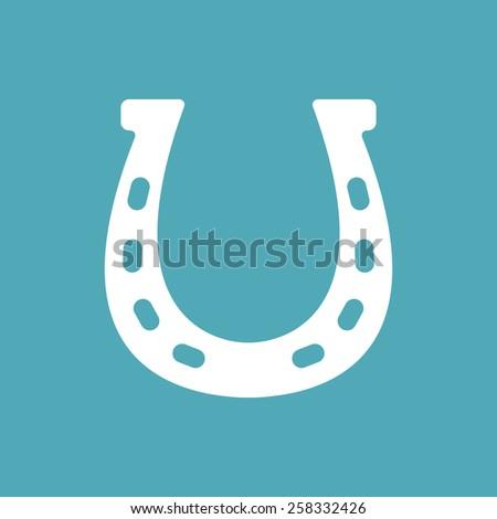 Horseshoe vector icon - stock vector