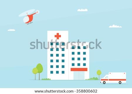 Hospital building - stock vector