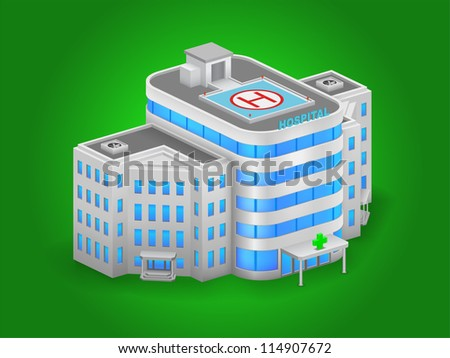 Hospital building high detailed vector - stock vector