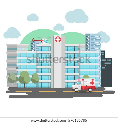 Hospital emergency building city background vector stock vector hospital emergency building city background vector malvernweather Gallery