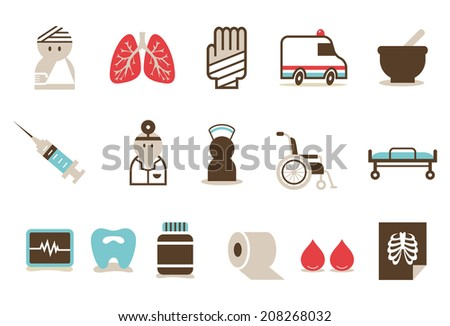 Hospital icon B - stock vector