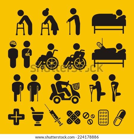 Hospital symbols - stock vector