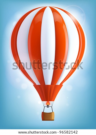 Hot air balloon - stock vector