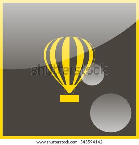Hot air balloon icon.