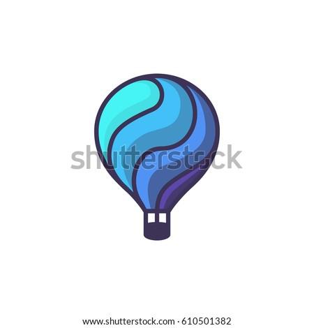 how to draw a hot air balloon cartoon