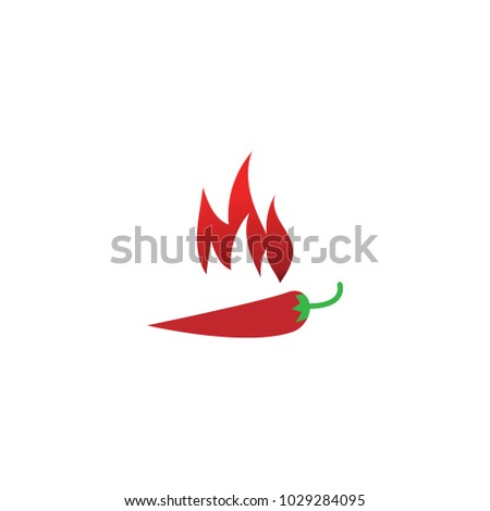 Hot Chili Pepper Graphic Template Vector Stock Vector 1029284095 ...