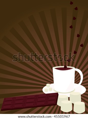Hot chocolate background 2 - vector version