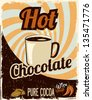 Hot Chocolate retro - stock vector