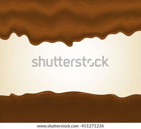 Hot chocolate splash, isolated on white background. - stock vector