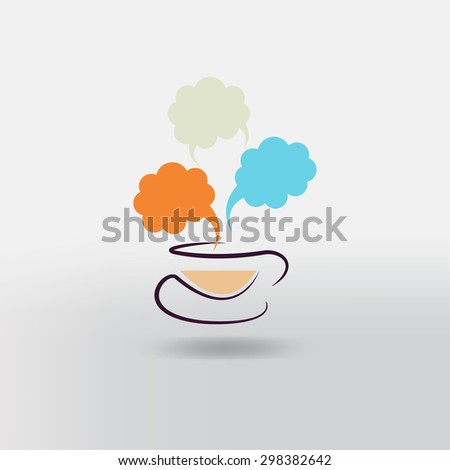 Hot coffee cup icon.  - stock vector