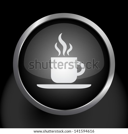 Hot Coffee Icon Symbol - stock vector