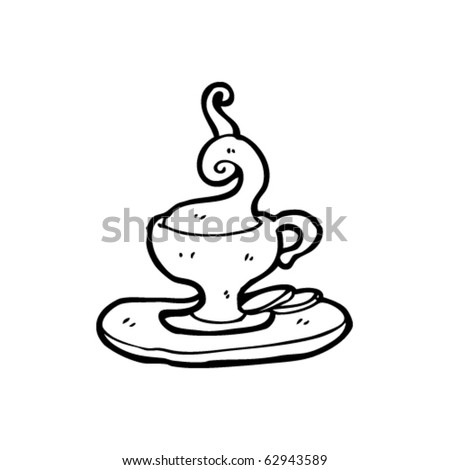 hot cup of tea cartoon