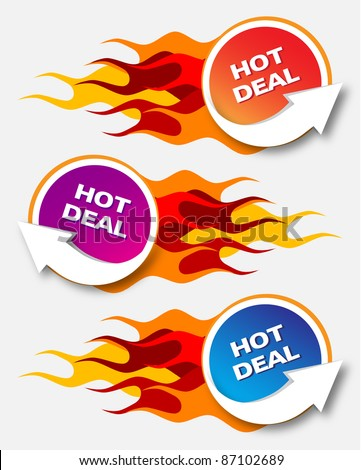 Hot Deal - stock vector