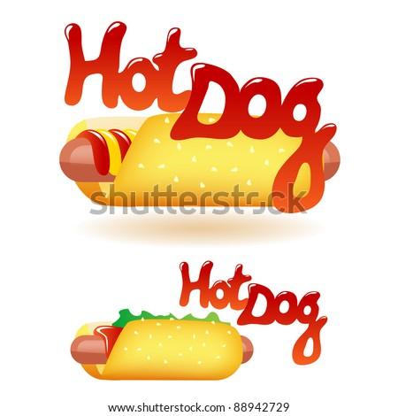 hot dog - stock vector
