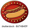 hot dog design - stock vector