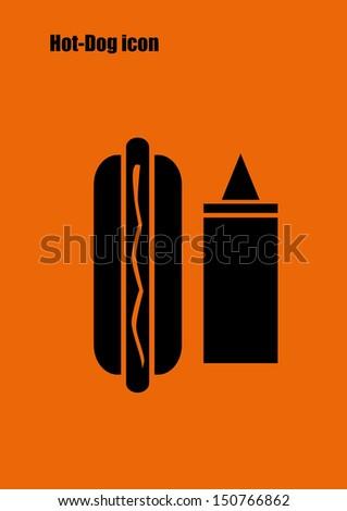 Hot-Dog icon - stock vector