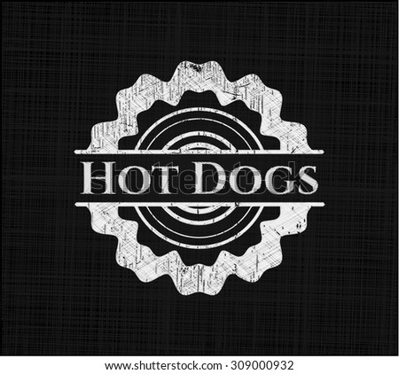 Hot Dogs chalkboard emblem - stock vector