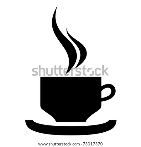 hot drink cup - stock vector