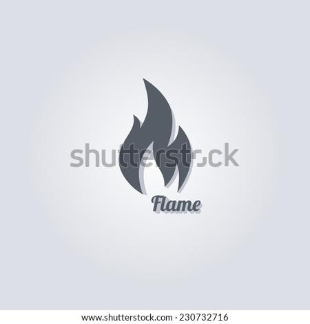 hot fire theme vector graphic art illustration - stock vector