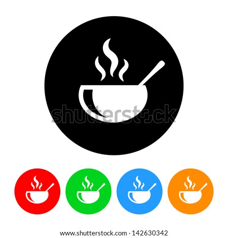 Hot Food Icon - stock vector