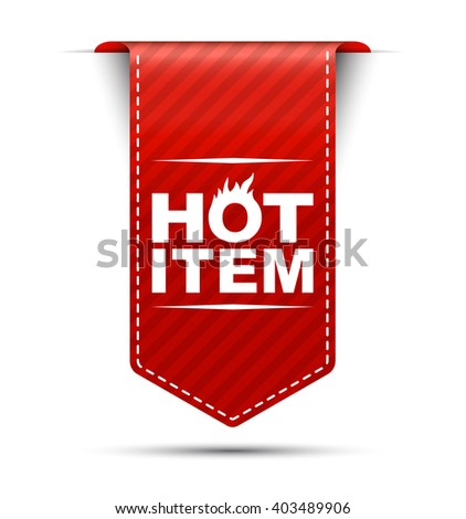hot item, red vector hot item, red banner hot item, element hot item, sign hot item, design hot item, illustration hot item, Picture hot item, hot item eps10 - stock vector