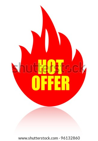 Hot offer vector icon - stock vector