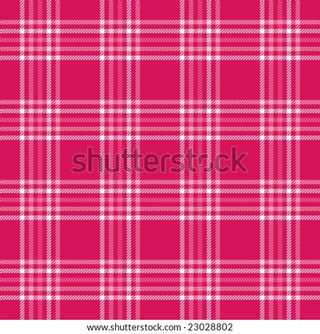 Hot Pink Plaid - stock vector