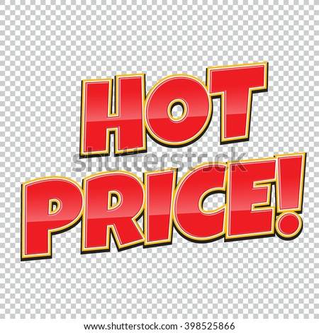 Hot Price comic banner. Sale background. Poster can be used for banners, flyers, outdoor printing, web.