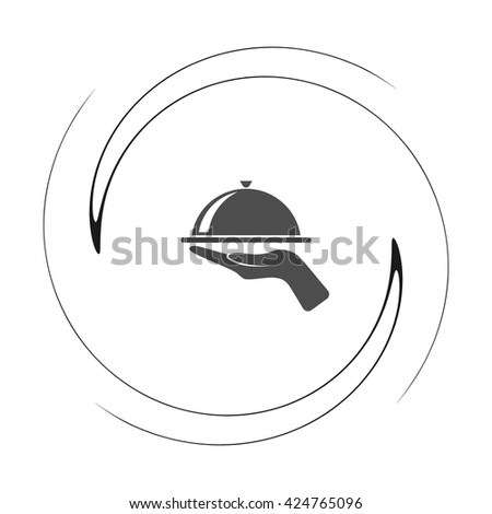 Hot proper meal plate vector illustration icon - stock vector