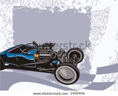 Hot Rod Background Series. - stock vector