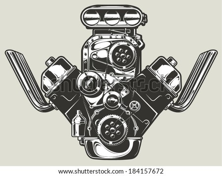 dragster engine stock photos royalty images vectors hot rod engine
