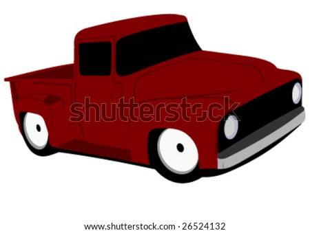 hot rod pick up truck vector illustrtaion - stock vector