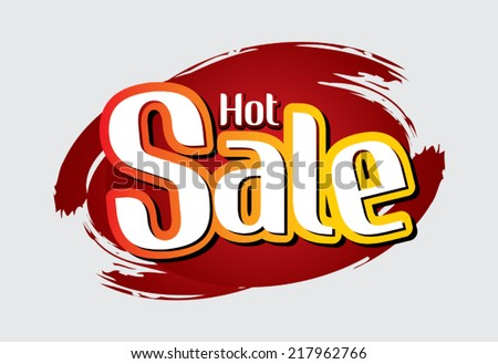 Hot Sale text, Vector.