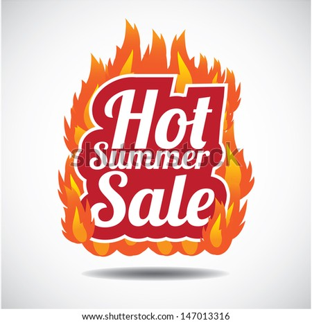 Hot summer sale design element. EPS 10 vector, grouped for easy editing. No open shapes or paths. - stock vector