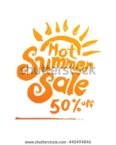 Hot Summer sale picture. Discounts 50% off.