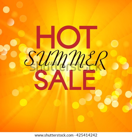 Hot Summer Sale. Vector summer background.