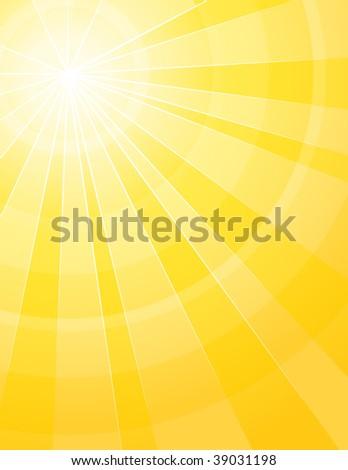 Hot sunshine - stock vector