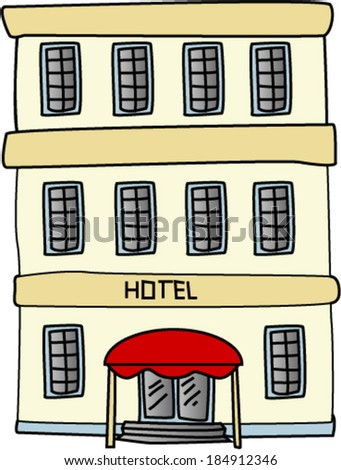 Hotel Building - stock vector