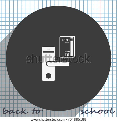 Hotel door lock key card icon stock vector 2018 704885188 hotel door lock and key card icon ccuart Gallery