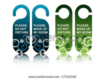 Hotel door signs, vector - stock vector