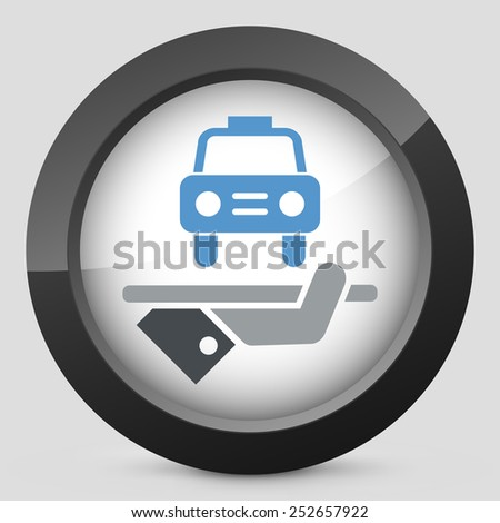 Hotel icon. Car service. - stock vector