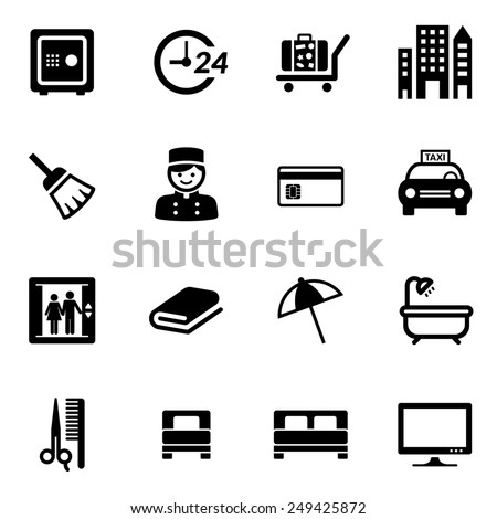 Hotel Icon set Icons - stock vector