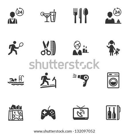 Hotel Icons - Set 2  - stock vector