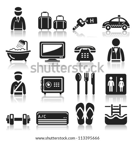 Hotel icons set2. vector eps 10 - stock vector